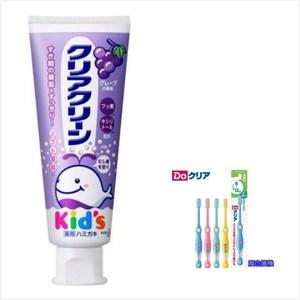 日本 KAO 兒童牙膏-葡萄(70g*3)+6~12歲兒童牙刷*6