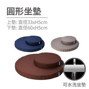 [特價]QSHION 禪風圓形坐墊 (三色任選)海軍藍