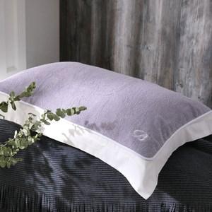 BBL Premium 100%純棉舒適枕巾乙對 (薄霧紫)雙人