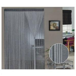 金格拉斯雙層雙色銀蔥線簾90x180cm灰