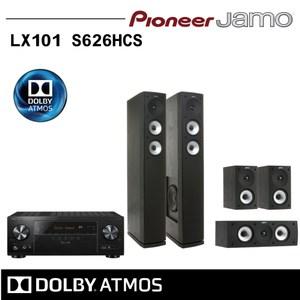 【Pioneer X Jamo】五聲道家庭劇院VSX-LX101+S626