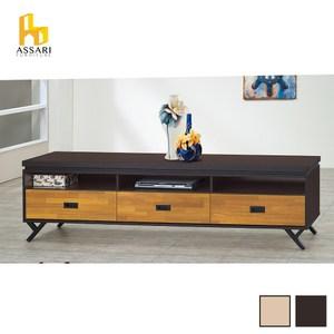 ASSARI-(橡木)集層木7尺電視櫃(寬211*深40*高53cm)