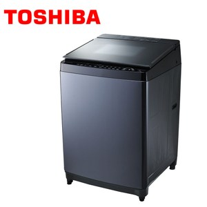 TOSHIBA 東芝 勁流雙渦輪超變頻 16公斤洗衣機 科技黑 AW-DG16WAG