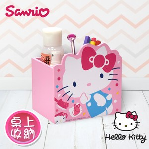 【Hello Kitty】凱蒂貓 造型小物收納盒 桌上收納 文具收納