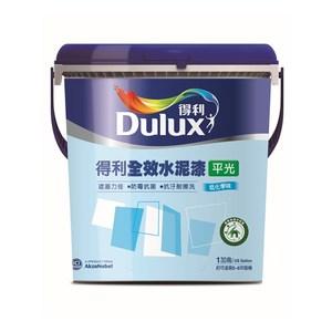 得利全效水泥漆平光藍鈴白G1