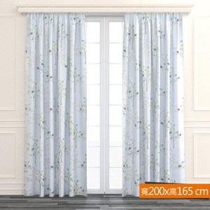 許願樹防蹣抗菌遮光窗簾 寬200x高165cm 灰色