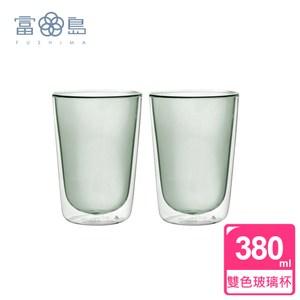 【FUSHIMA富島】Addicted系列雙層玻璃杯380ML-黑*2