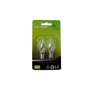 WTC LED E12 0.4W 專利小燭泡 清光2入