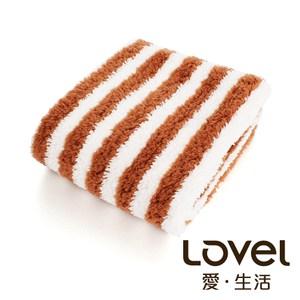 開纖紗牛奶條紋系列 毛巾-咖啡牛奶