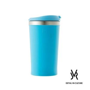 JVR 韓國原裝MINI POP不鏽鋼迷你翻蓋隨行杯280ml-共3色藍色