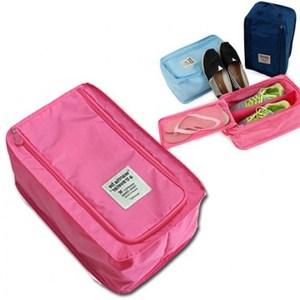 wanna be a traveler 便攜式旅行鞋袋 粉紅