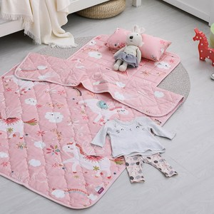 IN HOUSE-兒童睡墊涼被組-快樂獨角獸(粉)