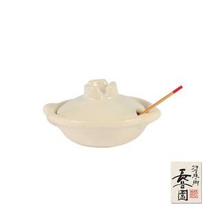 【日本長谷園伊賀燒】香料陶瓷小器皿(白釉)