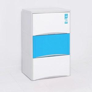 福氣高昇三層收納置物櫃(40L*3層)-粉藍