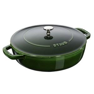 Staub 水滴型多功能燉鍋 鑄鐵鍋 湯鍋 24cm 羅勒綠