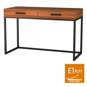 棈柚工業風雙抽書桌 採E1板材