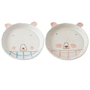 熊幸福陶瓷圓盤 混色