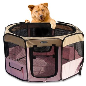 【寵物貴族】歐美熱銷正品八角形超寬敞摺疊寵物圍籠/寵物窩/狗籠_大(圍綠色