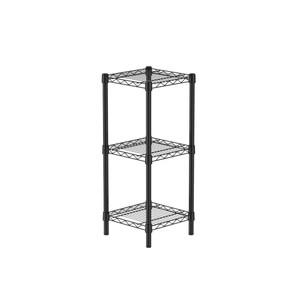 (組)特力屋烤漆三層架 -黑 33x33x80CM