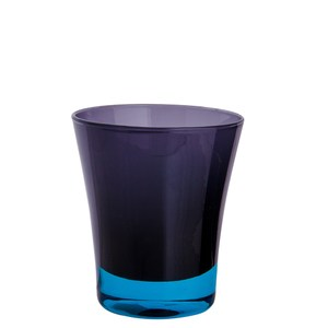HOLA home漸色手工玻璃水杯190ml 藍黑