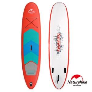 Naturehike 高強度充氣式水上衝浪板 滑水板 SUP 附划槳 紅色大號