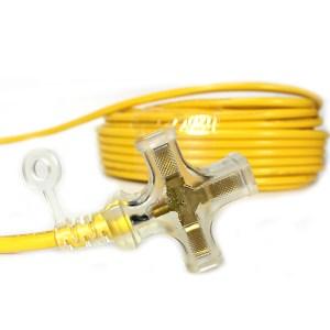 群加2C工業用1擴3帶燈延長線9米(PW-G2PL394)