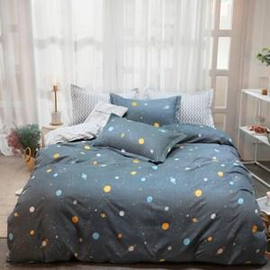 【eyah】100%時尚天使絨雙人加大床包枕套3件組-多款任選繁星