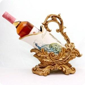 HONEY COMB 復古藍孔雀紅酒架 ED41