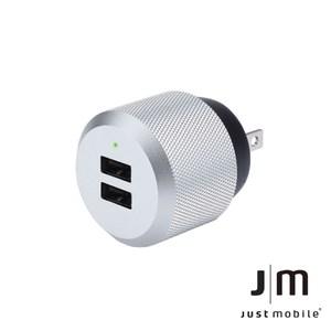 Just Mobile AluPlug 2.4A 鋁質USB雙埠充電器