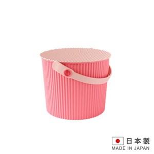 日本製造 波浪4公升水桶 儲物桶 兒童玩具桶-粉紅色 SAN-2364