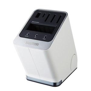 YAMASAKI 山崎家電 智慧型多功能滅菌刀座 SK-HV01(白)白色