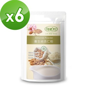 [特價]【樸優樂活】養生純杏仁粉-無糖(400g/包)*6件組