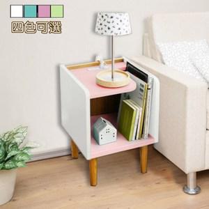 《C&B》歐伊姆迷你床頭櫃邊桌-淡粉紅