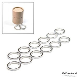 鋅合金靜音窗簾環 浴簾環 20入/組 消音環、吊環、內圈Φ30mm亮鉻