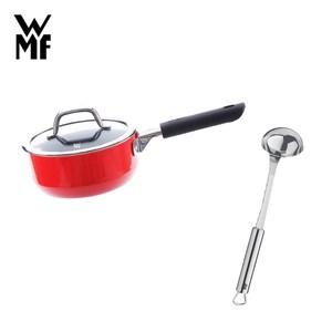 (組)WMF NATURamic 單手鍋 16cm 1.3L (紅色)+肉汁勺