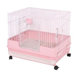 MARUKAN 日本 改版新款 抽屜式精緻挑高兔籠 粉色(MR-995)