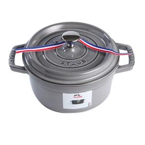 Staub 圓形鑄鐵鍋 琺瑯鍋 搪瓷 (10cm 0.25L 石墨灰) 法國製造