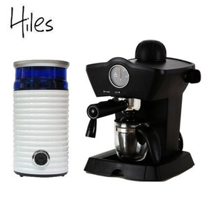 Hiles皇家尊爵組:義式咖啡機+電動磨豆機(HE-303/HE-386W2)