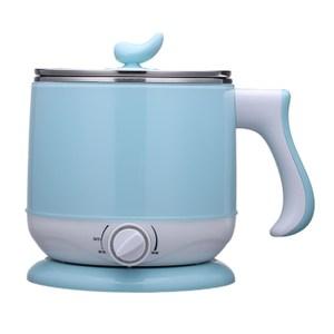 【晶工】2.2L多功能不鏽鋼電碗/美食鍋(粉藍) JK-301