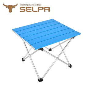 【韓國SELPA】炫彩鋁合金蛋捲桌(一般款)摺疊桌/露營桌(四色任選)藍色