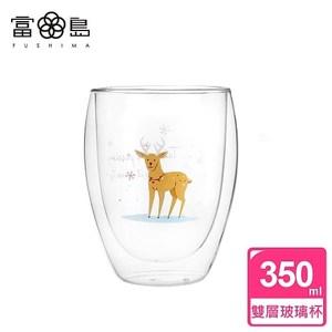 【FUSHIMA 富島】聖誕限定-Joy樂摯雙層耐熱玻璃杯麋鹿款