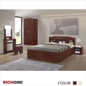 【RICHOME】哥倫布4件套房組-白橡色