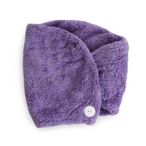 Lovel 7倍強效吸水抗菌超細纖維浴帽(柔棉紫)