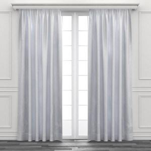HOLA 花朵繡花半腰窗紗 270x165cm 白