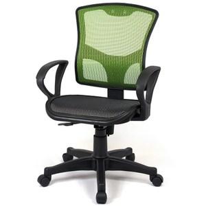 【aaronation】愛倫國度 - 步步高昇全透氣電腦網椅(23-2綠(無頭枕)