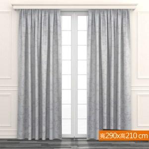 超值麗光緞印花遮光窗簾 寬290x高210cm 印葉風格款 簡易DIY 臥室客廳書房