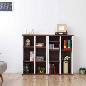 兩入一組【Accessco】日系雙色六格厚板櫃(胡桃白)