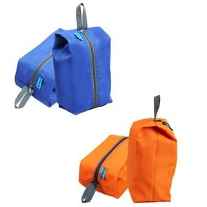 【PUSH!】戶外休閒旅遊用品雜物包可攜式鞋包防水洗漱包手提包U43橘紅