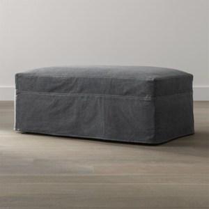 Crate&Barrel Lounge 布套附輪椅凳 深炭色