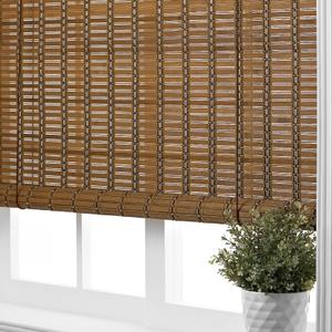 日式竹捲簾 深咖色款 160x150x0.2cm